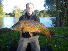 James Cracknell 14lbs 3oz fully scaled mirror from local club water using baitcraft t1.
