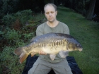James Cracknell 16lbs 11oz mirror carp from local club water using baitcraft t1.