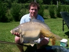 Daniel William Spreckley 32lbs 0oz Mirror Carp from Les Croix using tiger nut flavoured boilie.. This was a really feisty fish, as it took me half an hour to get in. This fish i had right down the