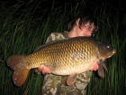 Josh Jackson 20lbs 2oz Common Carp from Carthagena Fishery. After an arranged social down Carthagena I decided to double up with a mate on the jettys, after finding a harder silter spot in the pads i