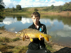 Jacob Bishop 13lbs 2oz Common Carp from Fletchers