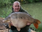 Owen Giles 40lbs 15oz Mirror Carp from Rookley Country Park using CC Moore Live system with a twist.. Milly