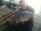 Richard Costello 16lbs 0oz Mirror Carp from Drayton Reservoir using Dynamite Banana and Nut Crunch Pop Up.