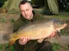 Kieron Axten 15lbs 10oz Mirror Carp from Local Club Water using Solar Club Mix (Squid & Octopus, Stimulin and Anchovy).