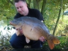 Kieron Axten 25lbs 7oz Mirror Carp from Rookley Country Park using Carp Company Icelandic Red Cranberry & Caviar.