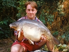 27lbs 4oz Mirror Carp from Cuttle Mill Carp Fishery using Paul Walker Monster Crab.. Peg 1