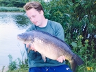 Kieron Axten 18lbs 6oz Mirror Carp from Kingsbury Water Park using Nutrabaits Big Fish Mix with Black Pepper and Caviar.. 11 fish off point in the weed - topped by this big double. I was fishing PVA