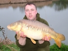 Kieron Axten 18lbs 0oz Linear Carp from Burnham-on-sea Holiday Village using Mainline Grange CSL.