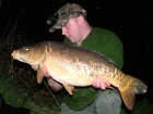 Kieron Axten 20lbs 0oz Mirror Carp from Burnham-on-sea Holiday Village using Mainline Grange CSL.