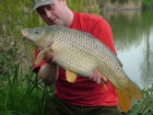Kieron Axten 18lbs 0oz Common Carp from Burnham-on-sea Holiday Village using Mainline Grange CSL.