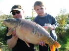Kieron Axten 19lbs 8oz Mirror Carp from Burnham-on-sea Holiday Village using Mainline Grange CSL.