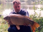 Kieron Axten 17lbs 2oz Mirror Carp from Woodland Waters using Nutrabaits Big Fish Mix with Black Pepper and Caviar.