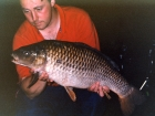 Kieron Axten 17lbs 2oz Common Carp from Willesley Lake using Mainline Grange CSL.. 14 fish from peg 18 all on Grange 14mm mostly on PVA bags. Enjoyable session but a '20' stil eluding me. They never