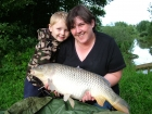 Cheryl Axten 15lbs 0oz Common Carp from Lonsdale Park using Mainline Grange CSL.