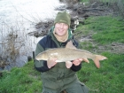 8lbs 12oz Barbel from River Dove using Nutrabaits - Trigga Ice +.. Caught during a quick winter session using Free Spirit rod, Shimano 5010GT Reel, 8lbs Fox Line to a running 2oz lead. Hooklength was
