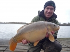 14lbs 0oz Mirror Carp from Drayton Reservoir using Quest Pineapple Crush.. Caught at 80 yards range, single hookbait casting to crashing fish. Used Century NG rod, Daiwa Tournament Reel,  12 lbs