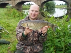 4lbs 14oz Chub from River Dove using Nutrabaits Trigga Ice.. Opening day fish. Caught using Greys X-Flite Barbel Rod, Okuma Reel, 12lbs Daiwa Infinity Duo line, Drennan feeder, 8lbs Suffix Invisiline