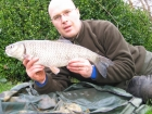 5lbs 6oz Chub from River Trent using Nutrabaits Trigga Ice +.. Caught fishing a downstream crease. Greys rod, Okuma reel, Fox Feeder, 6lbs Flourocarbon and size 8 Fox hook.