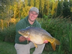 26lbs 7oz Mirror Carp from Les Burons Carp Fishing using Mainline Fusion.. Caught fishing to left side of island in 3 feet of water. Using Century NG Rods, Shimano 6000GTE reels, 15lbs Shimano Catana
